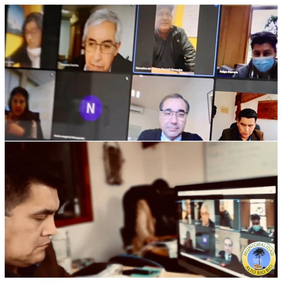 ALCALDE PIÑALEO Y DIRIGENTES DE CAUÑICÚ SE REÚNEN CON DIRECTOR NACIONAL DE VIALIDAD PARA EXIGIR CONSTRUCCIÓN DE PUENTE CHICHINTAWE